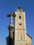 Church tower with cross Stock Photography