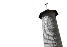 Church Tower And Crucifix Royalty Free Stock Photography