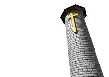 Church Tower And Crucifix Royalty Free Stock Image