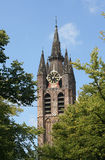 Church Tower of Delft Royalty Free Stock Photography