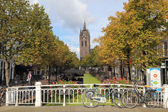 Church tower of Delft, Holland Royalty Free Stock Photos