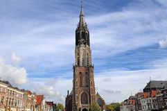 Church tower of Delft, Holland Royalty Free Stock Photo