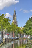 Church tower of Delft, Holland Royalty Free Stock Photography