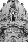 The church tower detail. Tower detail of the church in Dresden, Germany stock photo