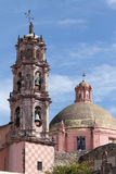 Church tower details in Mexico Stock Photo