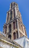 Church tower Domtoren in the historic center of Utrecht. Netherlands Stock Photos