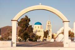 Church Tower Fira Santorini Stock Photography