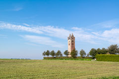 Church tower of Firdgum, Friesland, Netherlands. Tower of demolished church of the Frisian town of Firdgum in Friesland, Netherlands Royalty Free Stock Photos