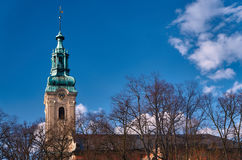 The church tower. Of the former Protestant church in Leszno Stock Photo