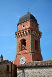 Church tower Frontone, Marche, Italy Stock Photography