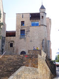 Church tower, Girona stock photo