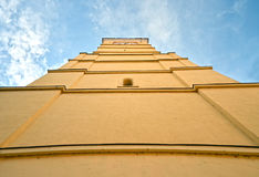 Church tower. Gothic church tower against the blue sky Royalty Free Stock Photos