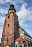 Church tower in the Gothic style Stock Photography