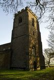 Church Tower and Grave Yard, Charwelton Stock Photo