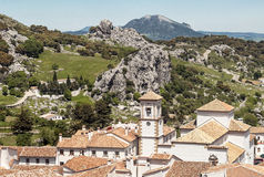 Church tower of grazalema Stock Photography