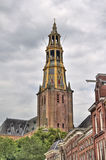 Church tower of Groningen, Holland Stock Photo