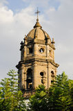 Church tower, historic colornial guadalajara, mx Royalty Free Stock Images