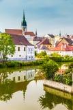 Church Tower-Jindrichuv Hradec,Czech Republic Stock Photography