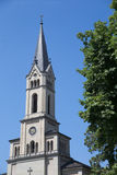 Church Tower in Konstanz royalty free stock photo
