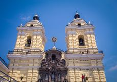 Church tower in Lima Peru. Church tower in the city of Lima Peru Royalty Free Stock Photo