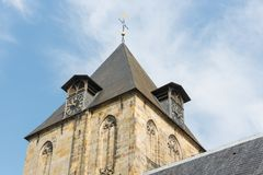 Church tower of little village Delden in the Netherlands Royalty Free Stock Photography
