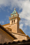 Church tower low angle view Royalty Free Stock Image