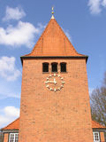 Church tower. Of the Lutheran Church in Hamburg-Wellingsbuettel, Germany Royalty Free Stock Image