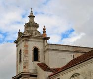 Church tower of Maltezas Convent - Centro Ciência Viva de Estremoz. Photo of the church tower of Maltezas Convent - Centro Ciência Viva de Estremoz royalty free stock photo
