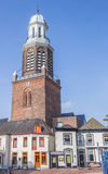 Church tower at the market square in Winschoten Royalty Free Stock Image