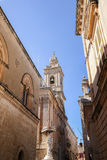 Church tower at Mdina, Malta. EU Stock Photo
