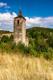 Church tower. Medieval ruins/lonely church tower/Pastewnik-Poland Royalty Free Stock Photos