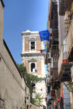 Church tower in Naples, Italy Royalty Free Stock Photography