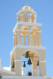 Church tower, Oia village, Santorini Royalty Free Stock Photo