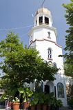 Church tower in Pomorie. From the 17th century in Bulgaria Stock Photography