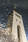 Church tower reflection on water Stock Photography