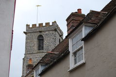 Church tower and roof Royalty Free Stock Photo