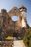 Church tower and ruins Stock Photography