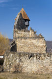 Church tower and ruins Royalty Free Stock Photo