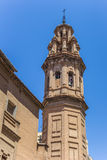 Church tower in the Russafa neighbourhood of Valencia Royalty Free Stock Image