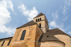 Church Tower in Saint-Léon-sur-Vezere Stock Images