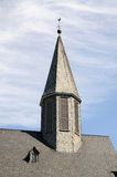 Church tower with schist slate Royalty Free Stock Image