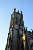 Church Tower with Scottish Flag Royalty Free Stock Photography