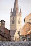 Church tower in Sibiu Royalty Free Stock Photos