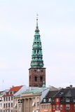Church tower - Skt Nikolaj Kirke Royalty Free Stock Photography