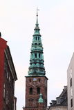 Church tower - Skt Nikolaj Kirke Royalty Free Stock Photos