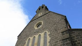 Church tower. With sky in Australia Stock Photo