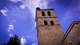 Church Tower. Spanish church tower Royalty Free Stock Photography