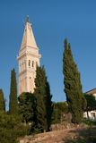 Church tower of St. Euphemia Church Stock Images