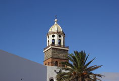 Church tower in Teguise, Lanzarote Royalty Free Stock Images