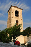 Church tower in Theologos village,island Thassos Royalty Free Stock Photos